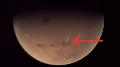 Photo of Mysterious Elongated Plume Reappears Above Mars' Arsia Mons Volcano
