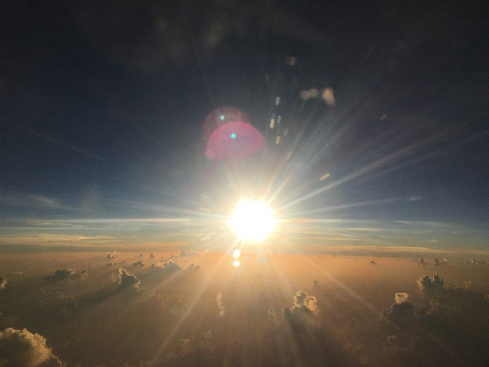 The sun just above the horizon. Jumpstory.