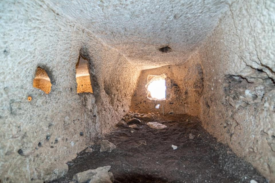 An image showing the inside of the rock-cut chambers located not far from Abydos. Image Credit: Egyptian Ministry of Tourism and Antiquities.
