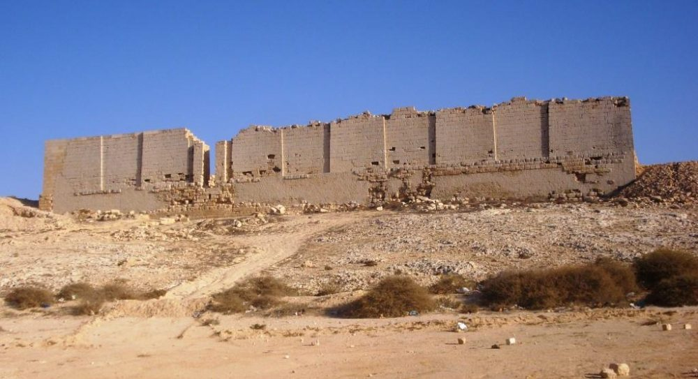 North facade of the Osiris Temple ruin in Taposiris Magna, west of Alexandria, facing the sea. Image Credit: Wikimedia Commons.