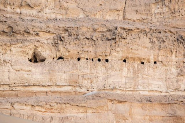 An image showing the rock-cut chambers discovered not far from the ancient Egyptian city of Abydos. Image Credit: Egyptian Ministry of Tourism and Antiquities.