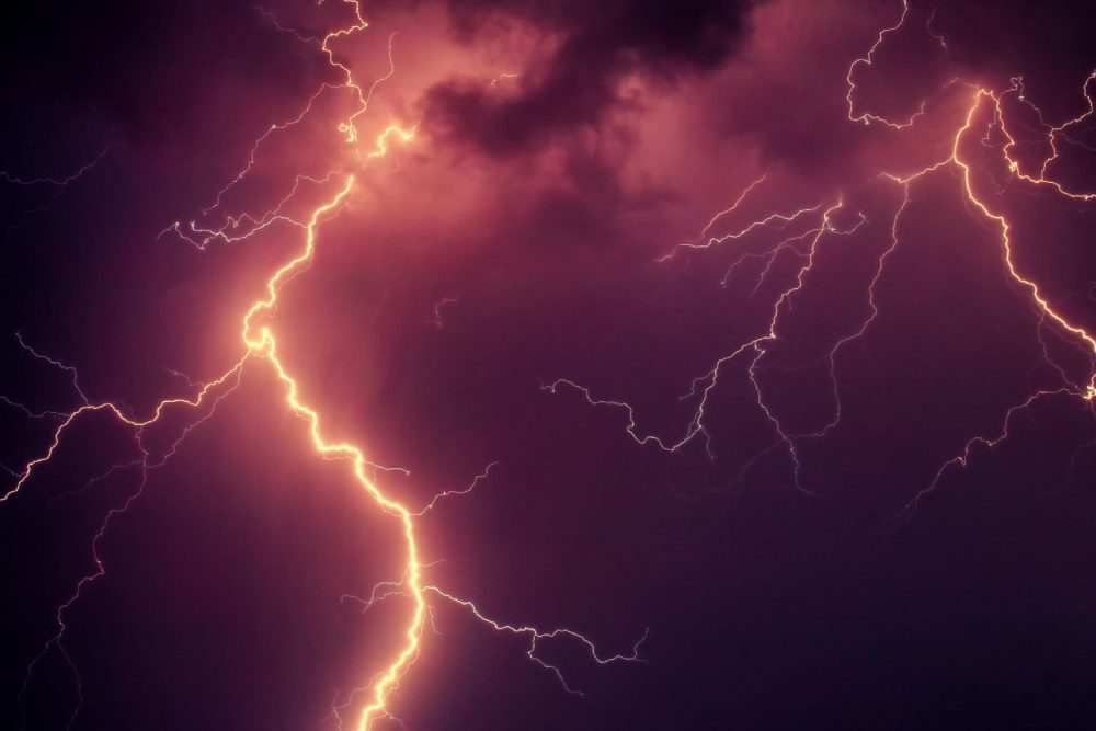 An image of a lightning strike. Jumpstory.
