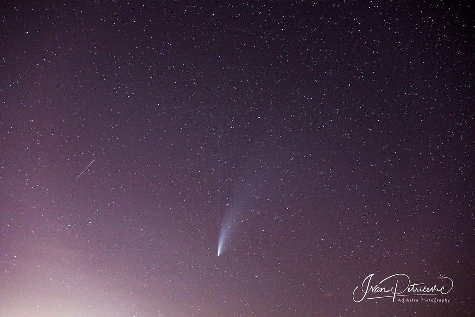 Comet NEOWISE photographed from Croatia. Image Credit: Ivan Petricevic / Ad Astra Photography.