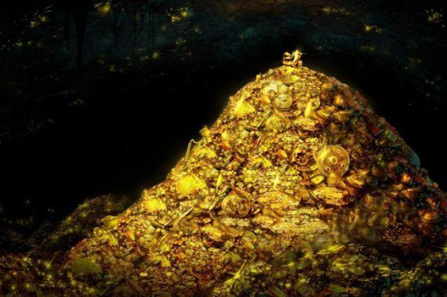 An artists rendering of a lost treasure. Shutterstock.