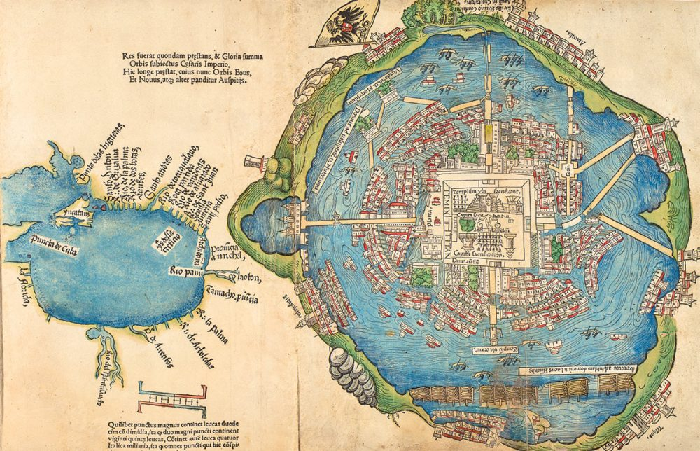 A map of the ancient city of Tenochtitlan. Image Credit: Reddit.