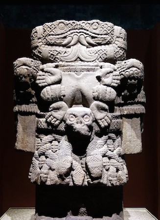 The Coatlicue sculpture housed in Mexico City's National Museum of Anthropology. Image Credit: National Museum of Anthropology.