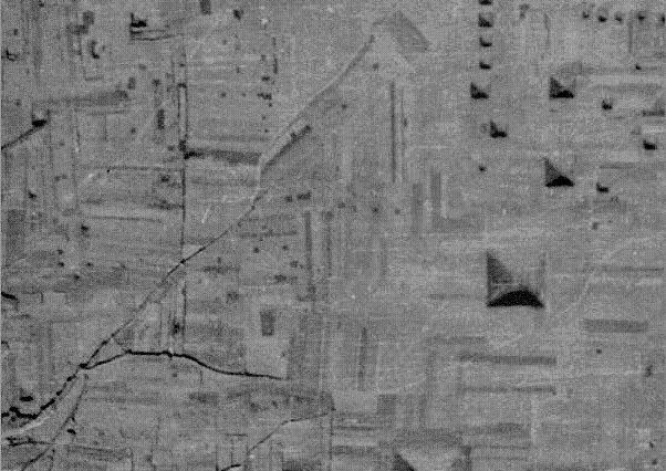 Satellite image of several Chinese Pyramids
