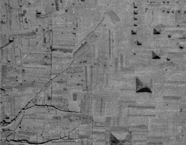 Satellite image of several Chinese Pyramids