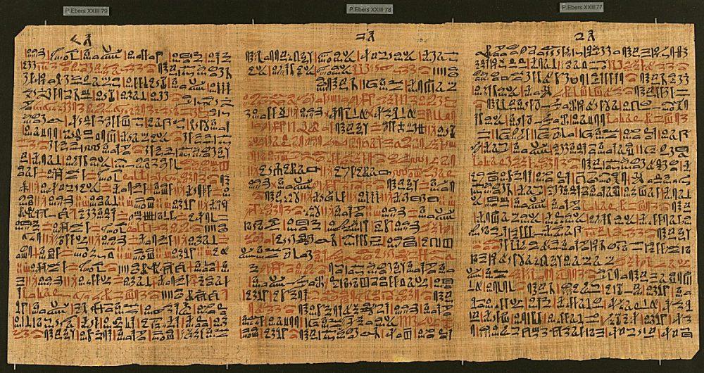 Ebers Papyrus.