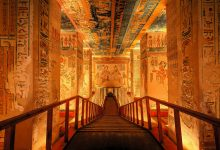 The Marvelous interior walls of an Egyptian Temple.