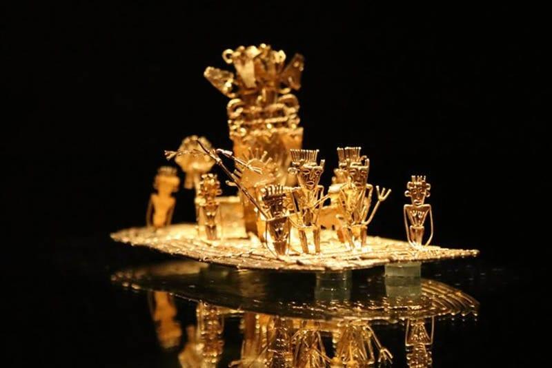 Ancient Inca artwork depicting the myth of El Dorado.