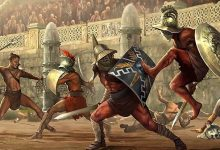 Illustration of the Gladiator Games.