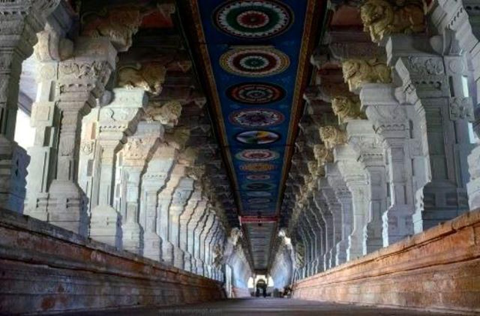 One of the corridors of the temple.