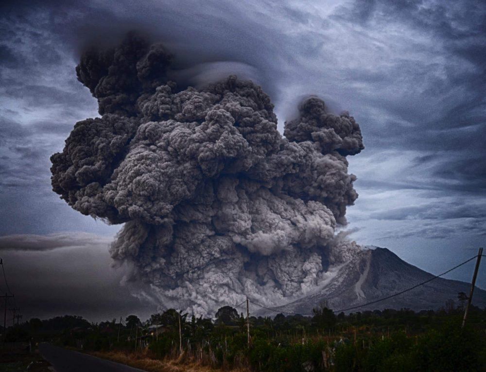 An image of a volcanic eruption. Jumpstory.