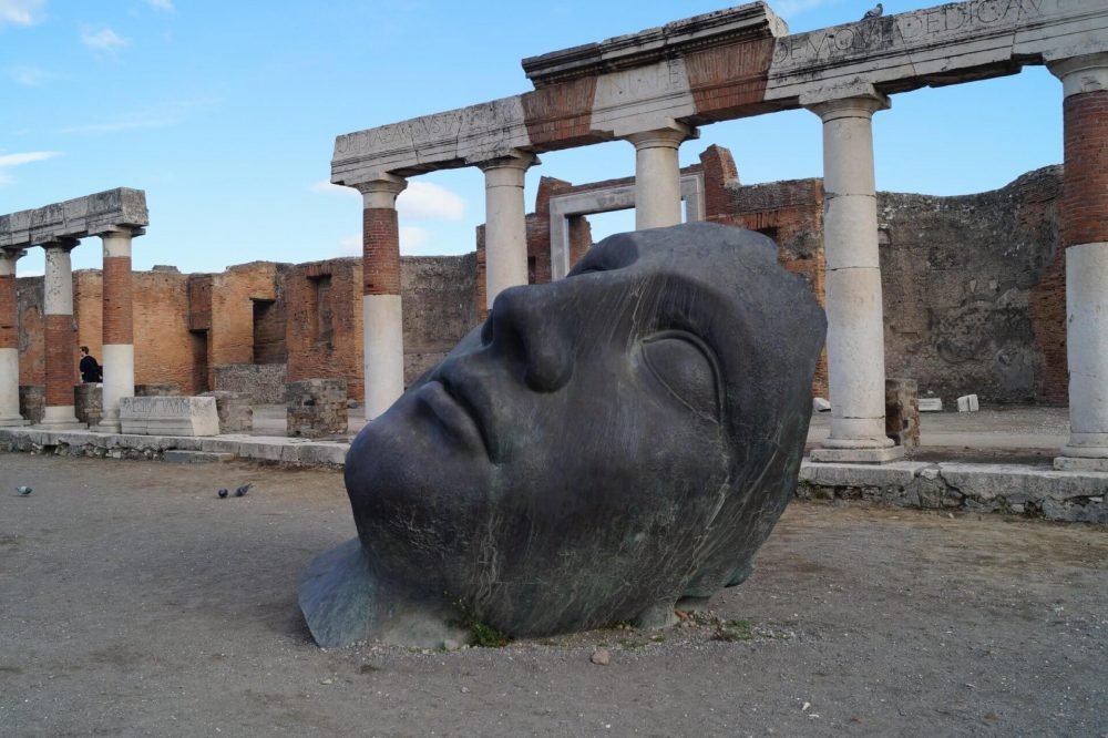An image of the remnants of an ancient Roman Statue. Jumpstory.