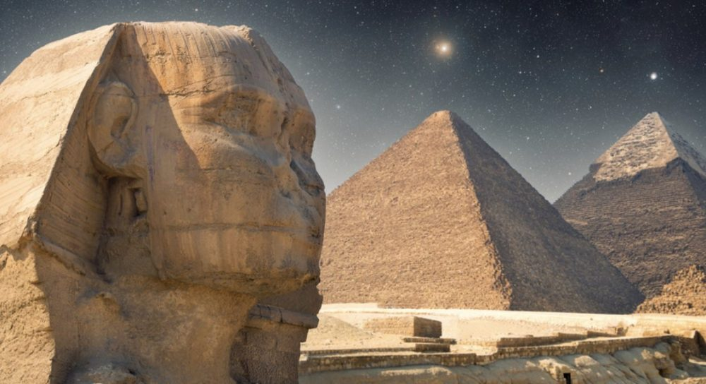 The Pyramids aligned with Orion's Belt.