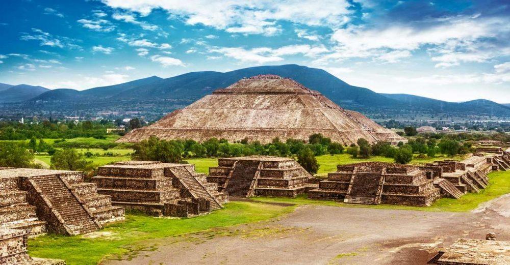 Pyramids in Teotihuacan.