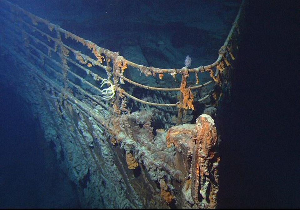 Underwater remains of the famous Titanic.