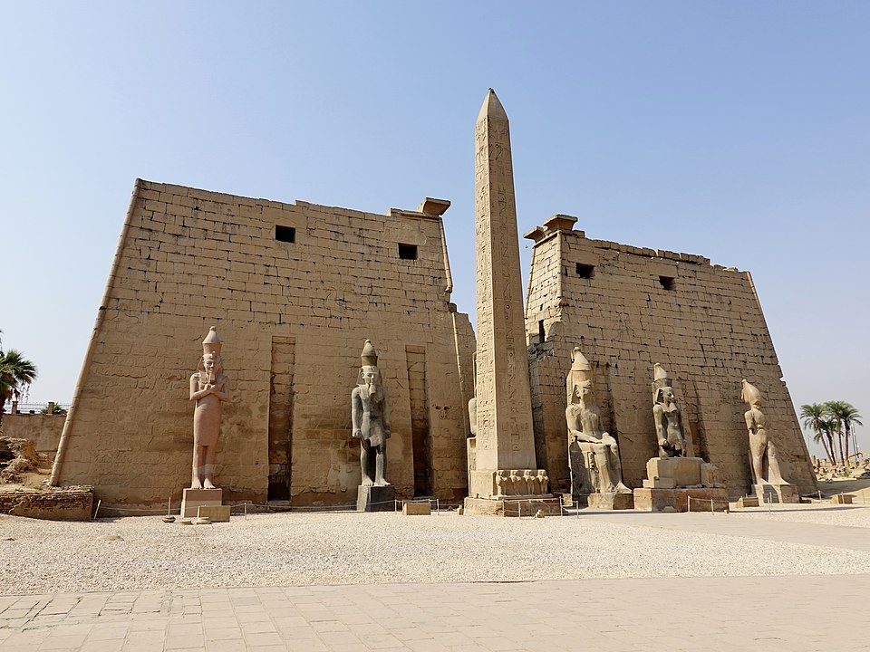 The temple of Luxor.