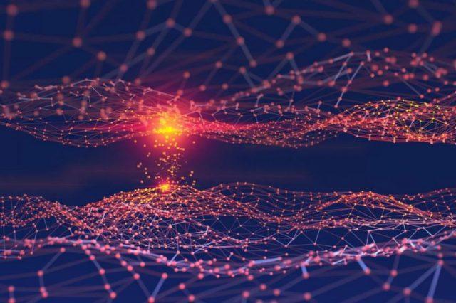 An artist's rendering of a neural network.
