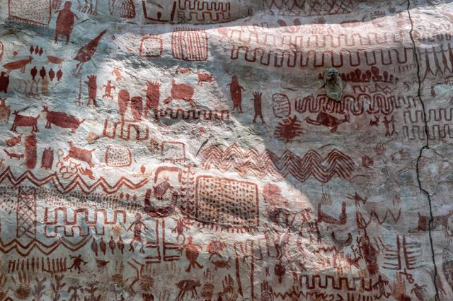 An example of the rock art of Chiribiquete.