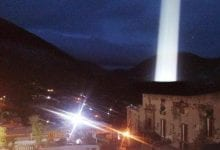An image of the alleged beam of light photographed in Mexico. Image Credit: Felipe Arias.