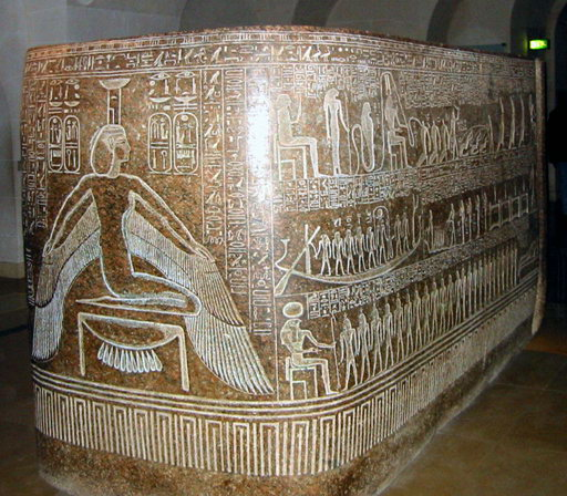 The sarcophagus of Ramesses III.