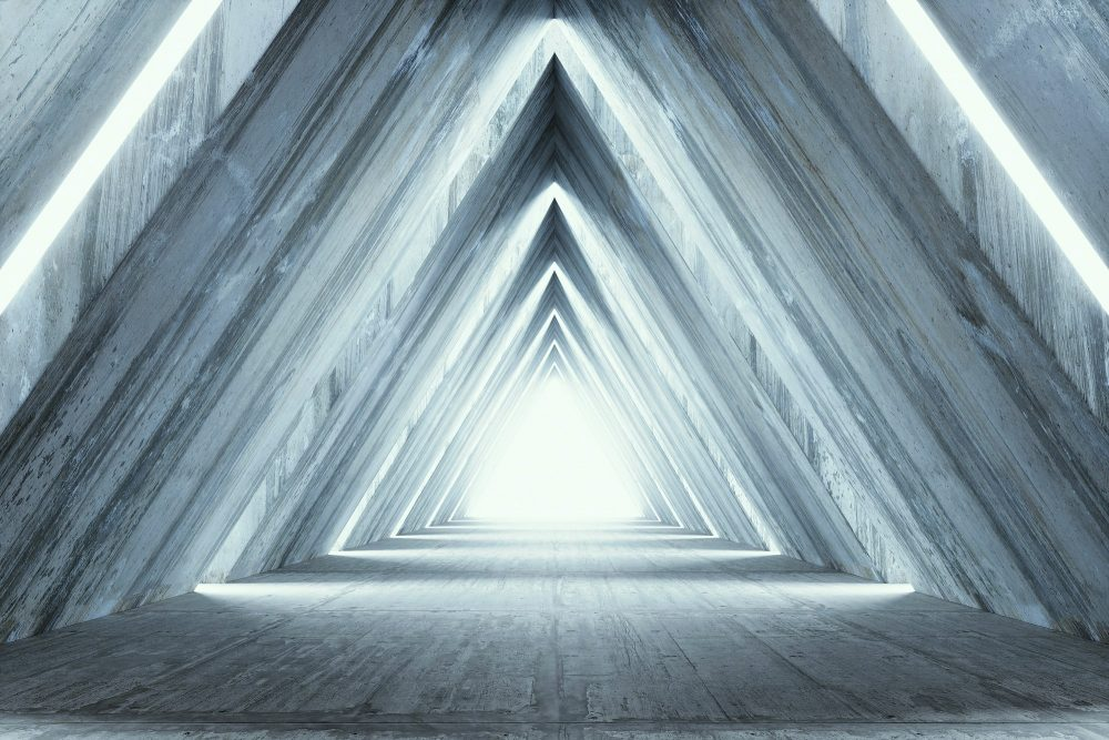 An artist's rendering of pyramid light. Shutterstock.