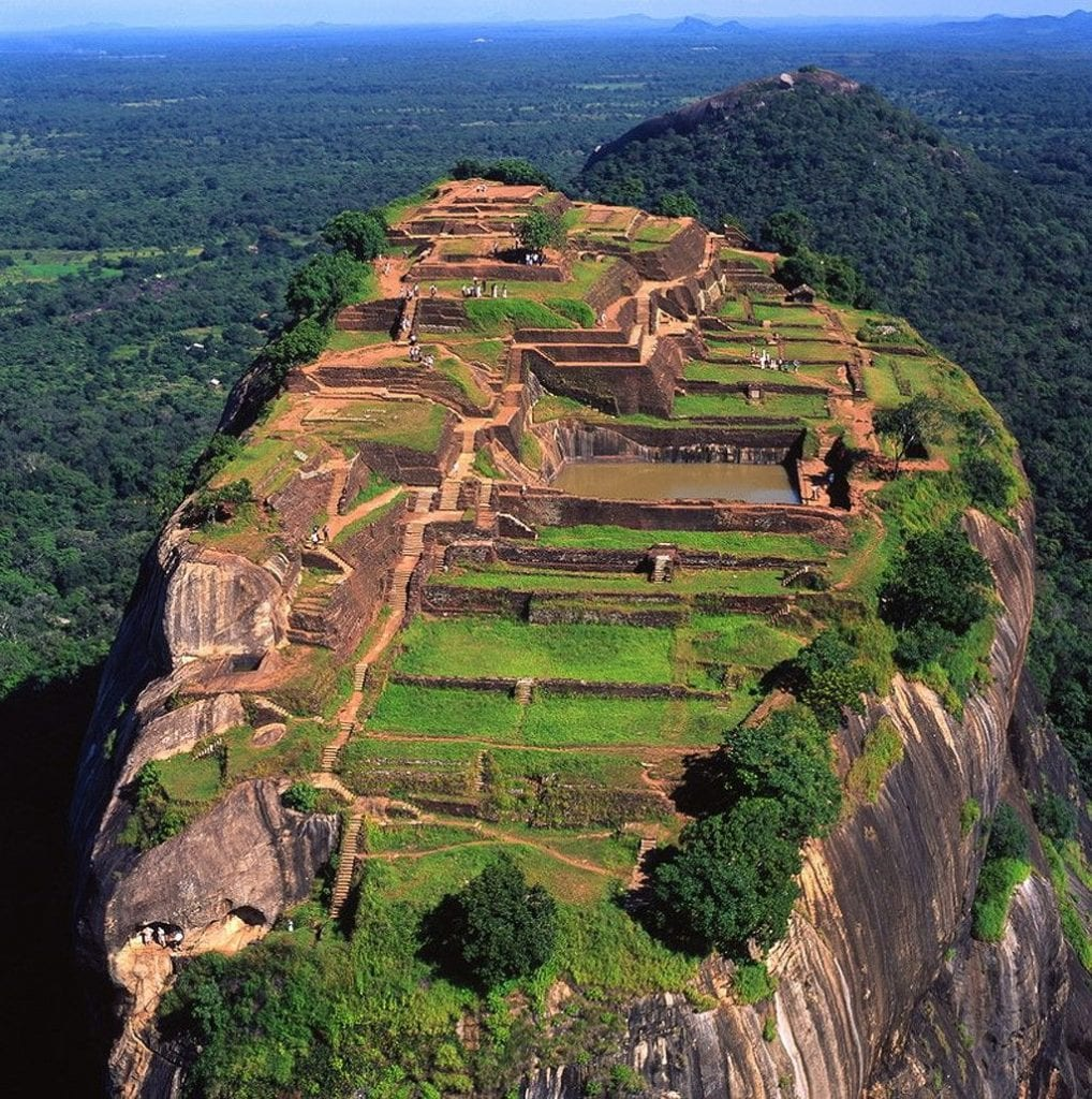 The palace was located at the highest terrace of Sigiriya but here you can see the remains of the marvelous gardens and ponds too.