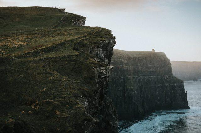 A Photograph of the cliffs off he coast if Ireland. Jumpstory.