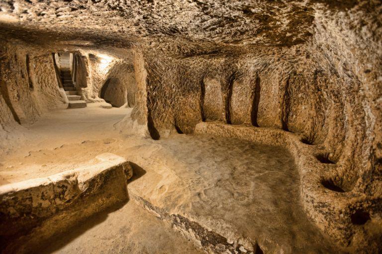 One of the halls in the underground city of Derinkuyu.