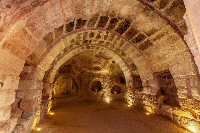 Tunnels in the ancient underground city of Derinkuyu.