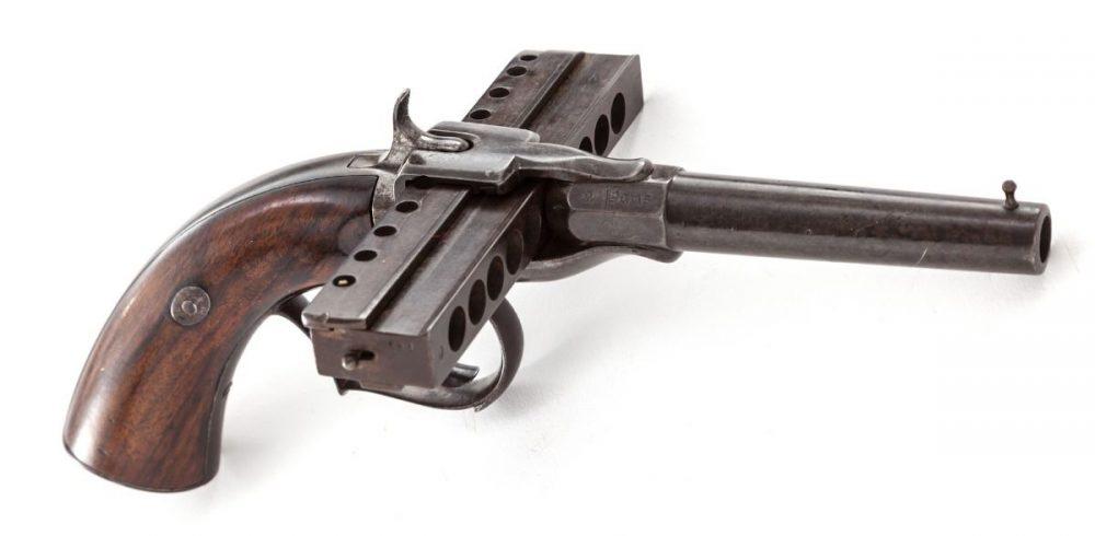 The strange harmonica gun.