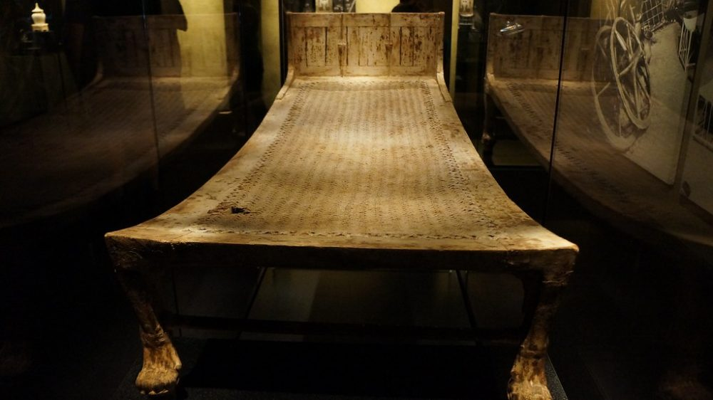 A treasure in its own way, Tutankhamun's bed held the sarcophagus and coffins.