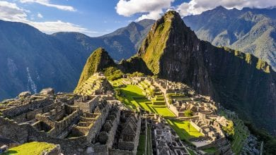 The most famous ancient site in Peru - Machu Pichu.