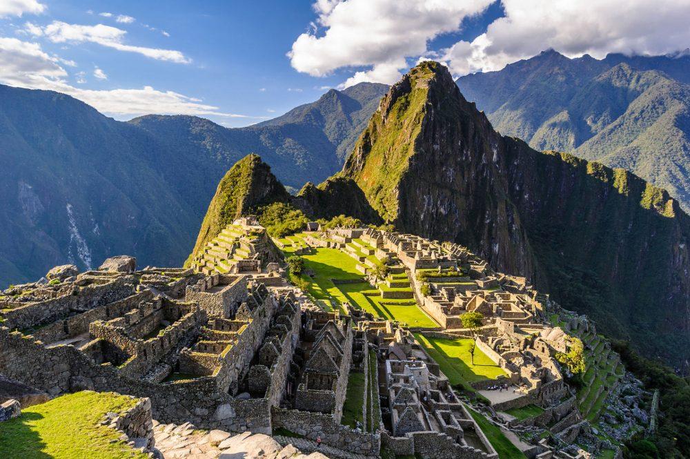 The most famous ancient site in Peru - Machu Pichu.