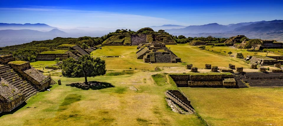 The ancient city of Monte Alban.
