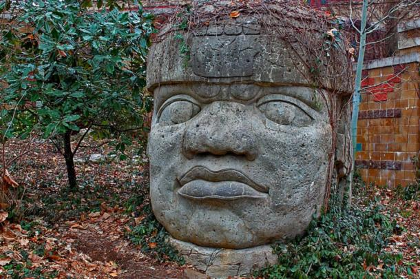 One of the 17 giant head statues erected by the ancient Olmecs.