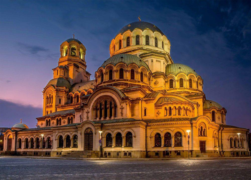 Cathedral Saint Aleksandar Nevski in Sofia, Bulgaria.