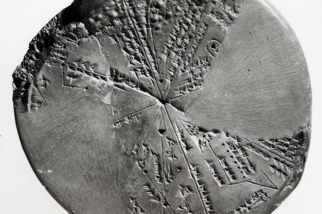 """The """"Planisphere"""", a 5500-year-old Sumerian Star Map discovered more than 150 years ago."""