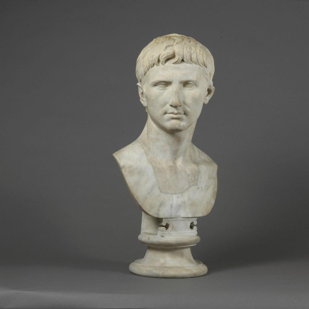 Marble bust portrait of Roman Emperor Augustus kept in the British Museum. Credit: British Museum
