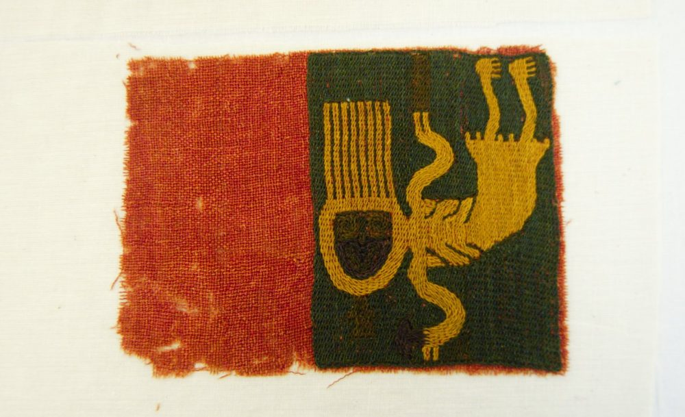 Textile piece with a skeletal figure. Source: Brooklyn Museum