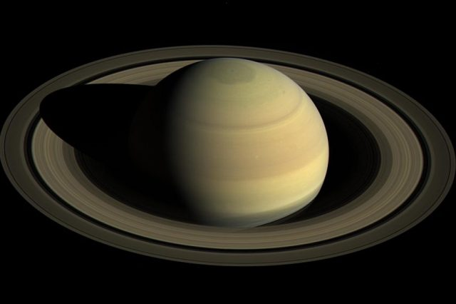 Saturn has seven rings, and each one of them is named after an alphabet.