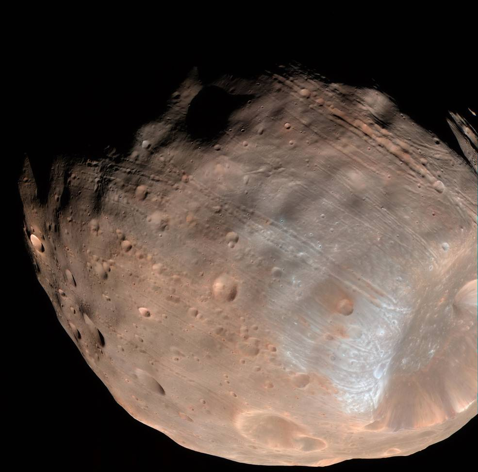 Phobos, the larger of the two Moons of Mars. Source: NASA