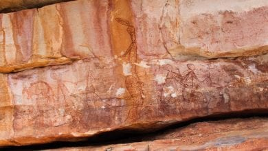 Photo of Unwritten Mystery: What Are These 9,000-Year-Old Conehead Humanoids Depicted in Australia's Rock Art
