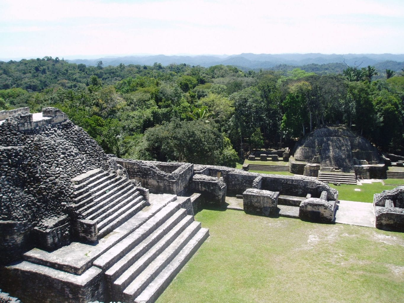 Some of the many Mayan ruins in Caracol. Credit: Belizehub