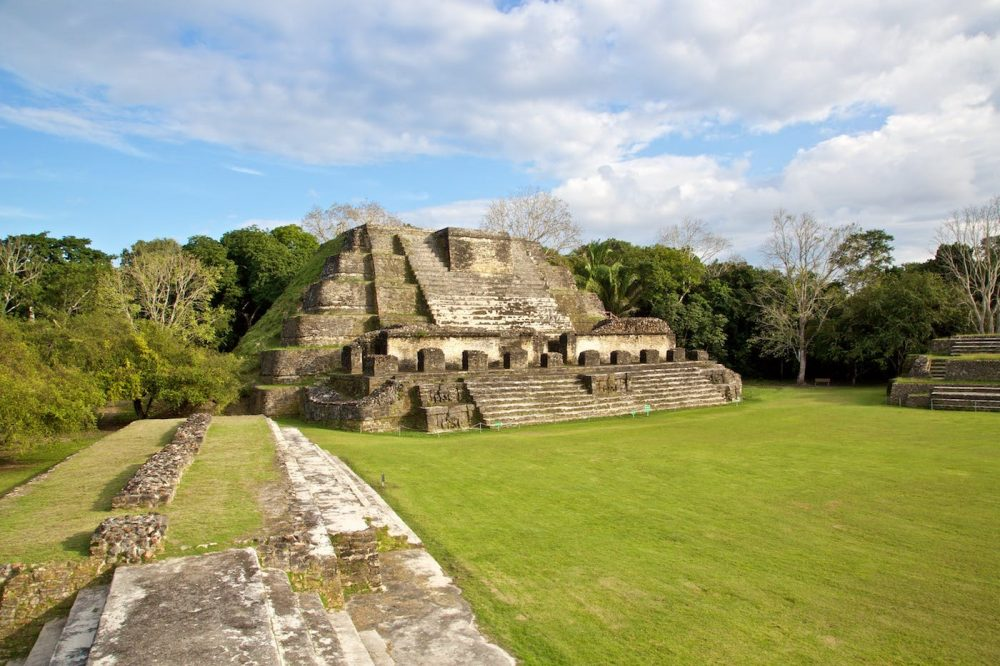 The ruins of Altun Ha located at the Caribbean coast of the Yucatan Peninsula. Credit: Anywhere