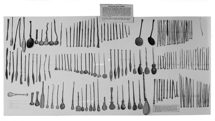 Ancient Greek and Roman surgical tools.