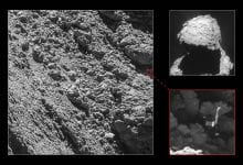 The Philae space probe was identified almost two years after its original impact with the curious comet. Credit: ESA