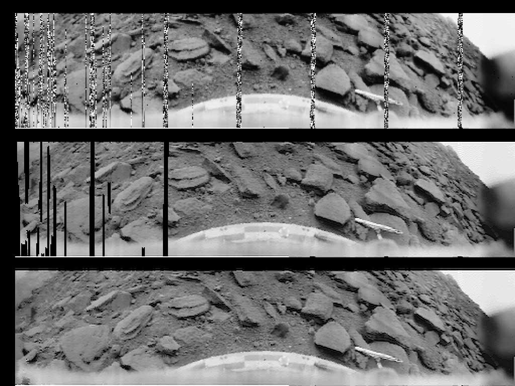 Venera 9 image of Venusian surface (1975). Image Credit: Roscosmos.